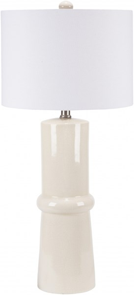 Ava Cream Crackle Ceramic Linen Table Lamp - 14x30.5 AVLP-002