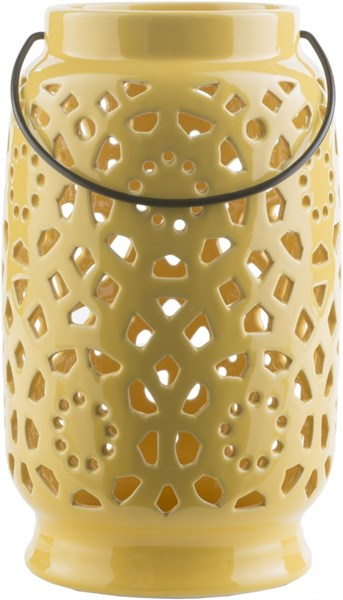 Avery Contemporary Gold Ceramic Large Lantern AVR924-L