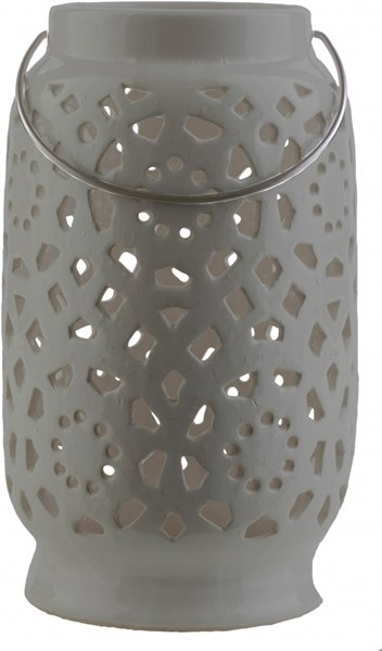 Avery Contemporary Moss Ceramic Large Lantern AVR931-L