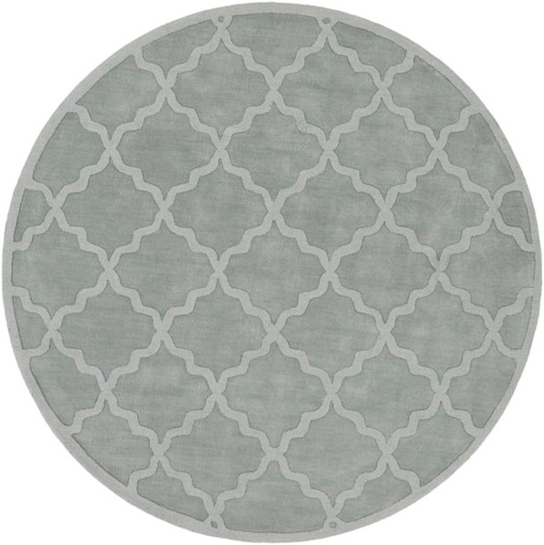 Surya Central Park Ice Blue Sage Wool Round Area Rug - 117x117 AWHP4017-99RD