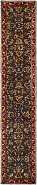Surya Middleton Bright Red Mustard Brown Olive Wool Runner - 120x27 AWHY2061-2310
