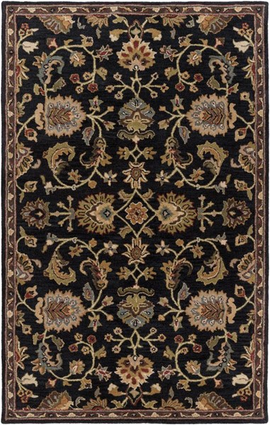 Surya Middleton Dark Green Gray Brown Garnet Wool Area Rug - 72x48 AWMD1000-46