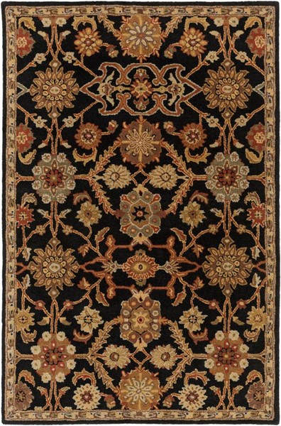 Surya Middleton Black Rust Olive Camel Wool Area Rug - 36x24 AWMD2073-23