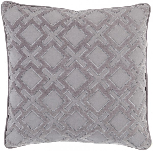Alexandria Gray Charcoal Down Fabric Throw Pillow (L 18 X W 18) AX005-1818D