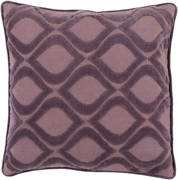 Alexandria Mauve Poly Cotton Velvet Throw Pillow (L 22 X W 22) AX009-2222P