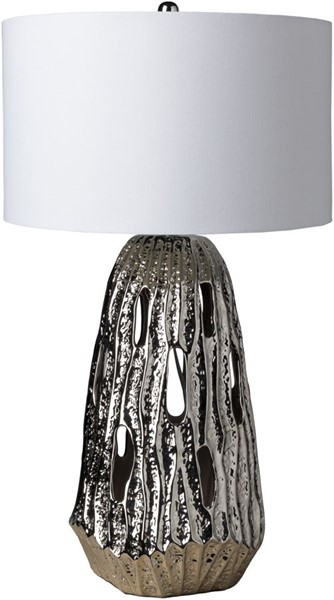 Surya Axion White Ceramic Table Lamp - 18x31.75 AXO-100
