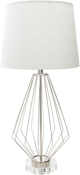 Surya Axs White Metal Crystal Table Lamp - 16x34 AXS100-TBL