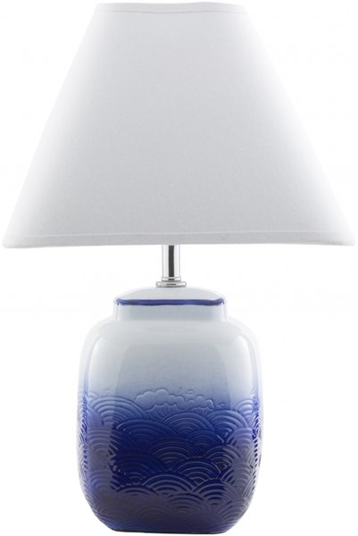 Azul Ombre Blue Ceramic Cotton Table Lamp - 11x18 AZL621-TBL