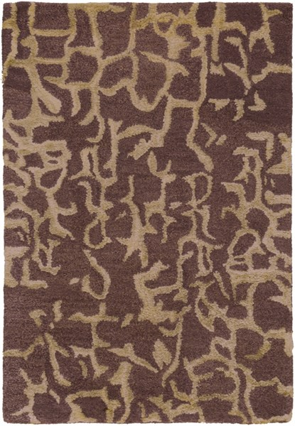 Banshee Modern Chocolate Beige Wool Viscose Area Rugs 428-VAR1