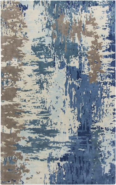 Surya Banshee Dark Bright Blue Wool Viscose Area Rug - 96x60 BAN3342-58