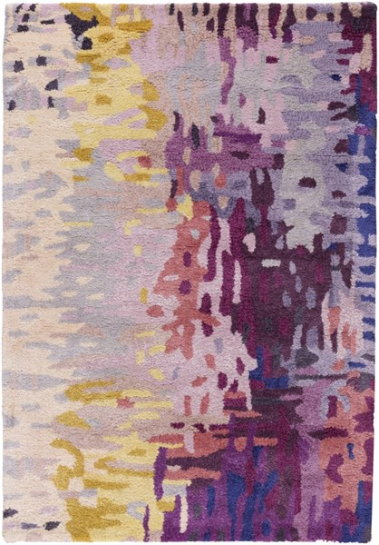Banshee Magenta Gold Cherry Wool Viscose Area Rug - 24 x 36 BAN3344-23