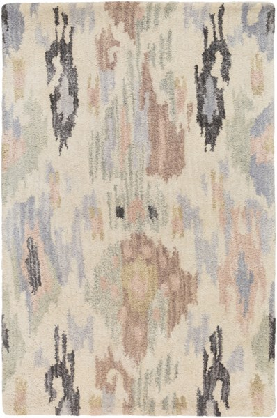 Banshee Blue Gray Olive Wool Viscose Area Rugs 832-VAR1
