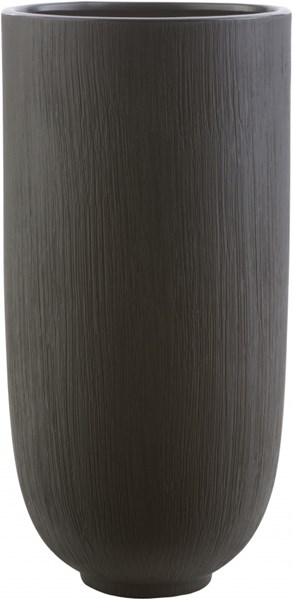 Bautista Modern Black Ceramic Table Vase - 6.69 x 6.69 x 13.58 BAU706-M