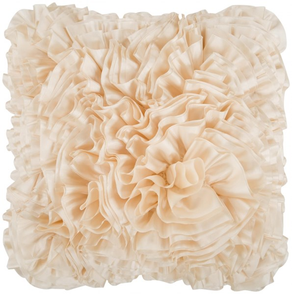 Prom Beige Down Throw Pillow - 18x18x4 BB032-1818D
