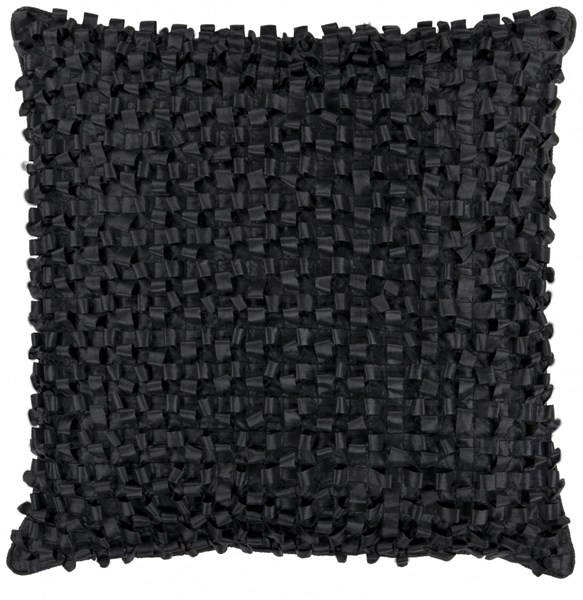 Andrew Black Poly Throw Pillow - 22x22x5 BB037-2222P