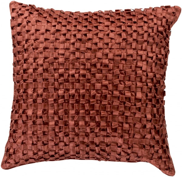 Andrew Rust Poly Throw Pillow - 22x22x5 BB044-2222P