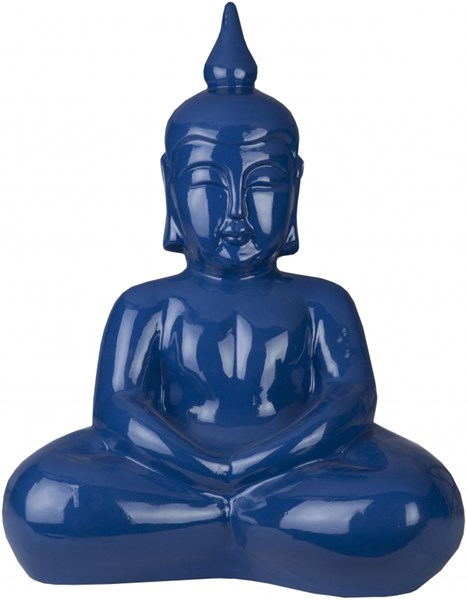 Buddha Modern Cobalt Light Gray Ceramic Sculpture BUDDHA-DCR-BNDL