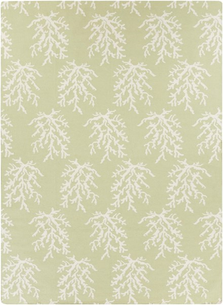 Boardwalk Ivory Lime Wool Area Rug - 96 x 132 BDW4009-811