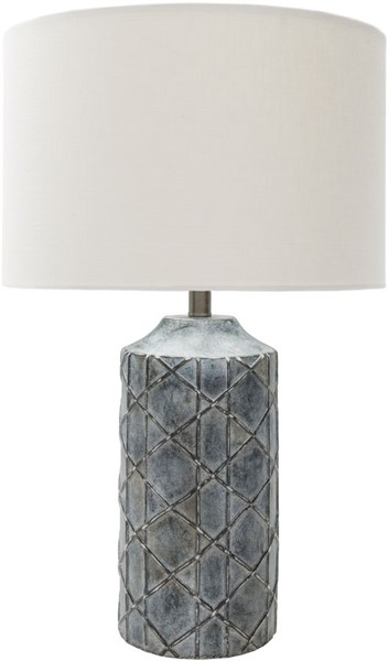 Surya Brenda Charcoal White Metal Table Lamp - 16x26.75 BED200-TBL