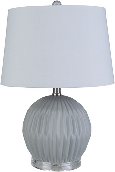 Surya Brennon Light Gray Ceramic Acrylic Table Lamp - 13x19 BEN-002