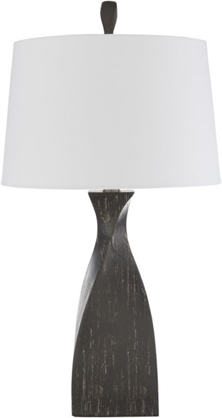Surya Braelynn Charcoal White Table Lamp - 15.5x29 BEY-001