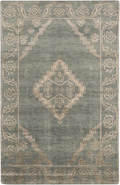 Bagras Forest Chocolate Ivory Bamboo Silk Wool Area Rug - 60 x 96 BGR6000-58
