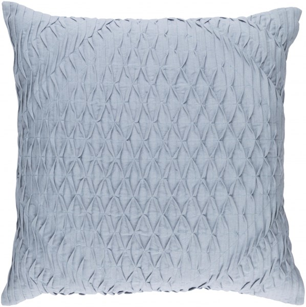 Baker Contemporary Slate Sky Blue Cotton Fabric Throw Pillow 13510-VAR1