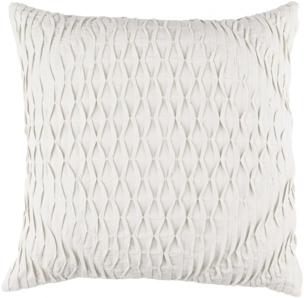 Baker Pillow with Down Fill in Light Gray - 22 x 22 x 5 BK005-2222D