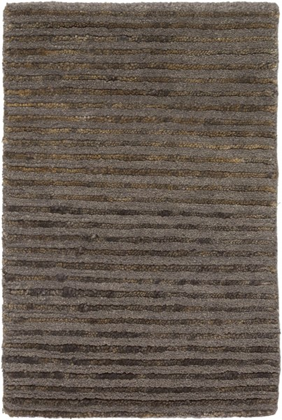 Blend Contemporary Chocolate Taupe Jute Wool Area Rugs 1194-VAR1