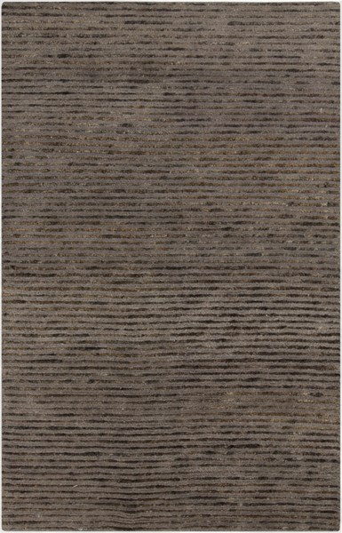 Blend Contemporary Chocolate Taupe Jute Wool Area Rug (L 96 X W 60) BLD1000-58
