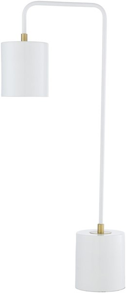 Surya Boomer White Metal Table Lamp - 12x24.85 BME-003