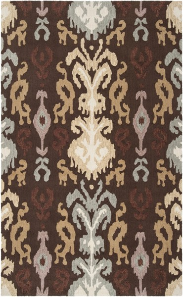 Brentwood Gold Beige Mauve Polyester Area Rug - 60 x 96 BNT7673-58