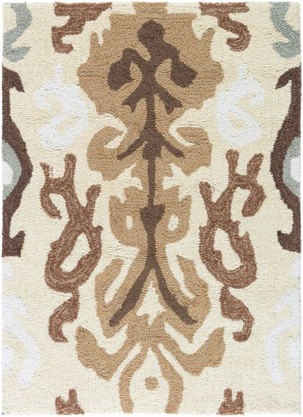 Brentwood Beige Gray Ivory Polyester Area Rug - 24 x 33 BNT7674-229