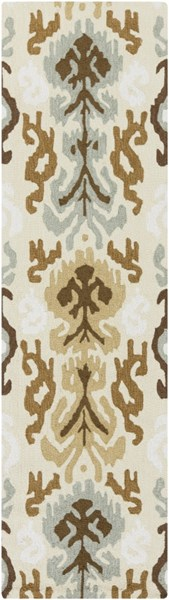 Brentwood Beige Gray Ivory Polyester Runner - 27 x 96 BNT7674-238