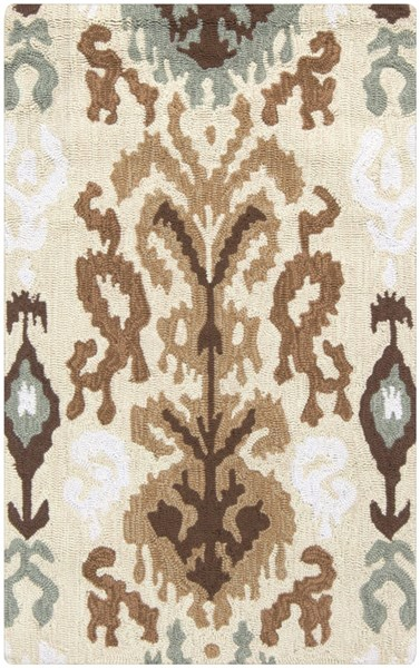 Brentwood Beige Gray Ivory Polyester Area Rug - 30 x 48 BNT7674-264