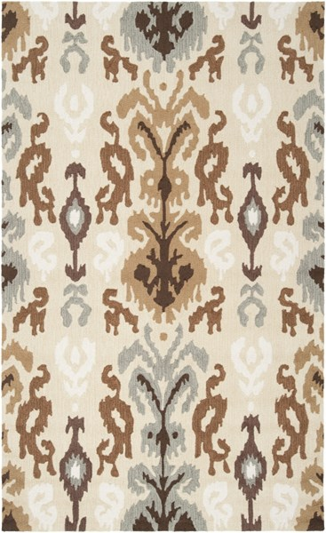 Brentwood Beige Gray Ivory Polyester Area Rug - 60 x 96 BNT7674-58
