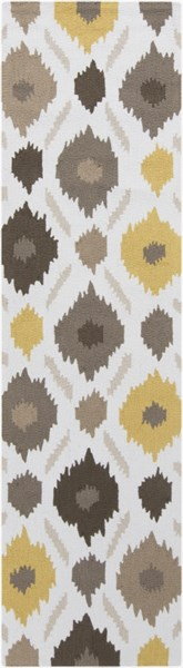 Brentwood Beige Gray Olive Polyester Runner - 27 x 96 BNT7676-238