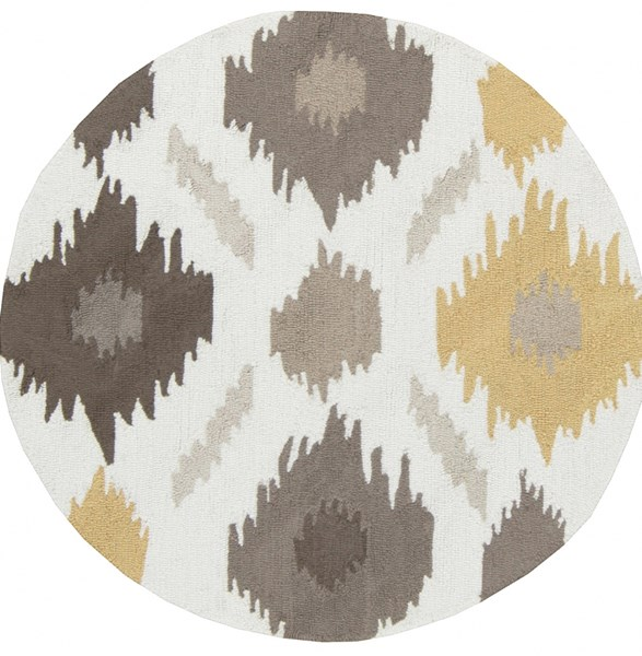 Surya Brentwood Wheat Taupe Cream Polyester Round Area Rug - 36x36 BNT7676-3RD