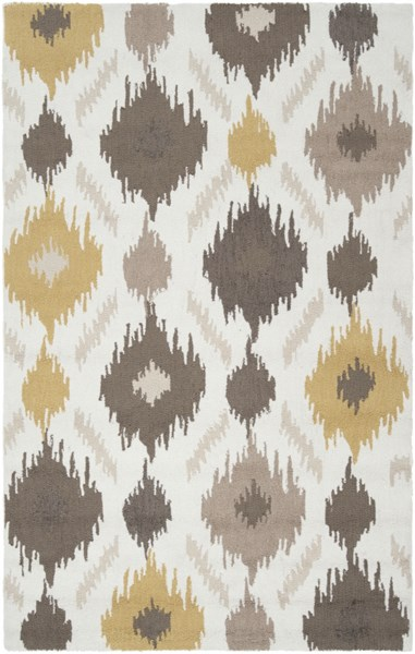 Brentwood Beige Gray Olive Polyester Area Rug - 60 x 96 BNT7676-58