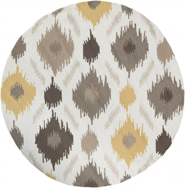 Brentwood Beige Gray Olive Polyester Round Area Rug - 72 x 72 BNT7676-6RD