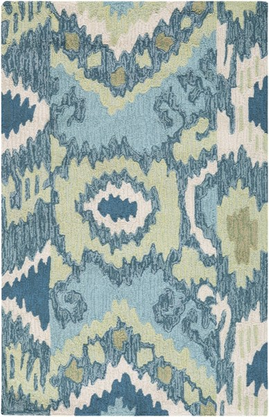 Brentwood Ivory Olive Teal Polyester Area Rug - 30 x 48 BNT7678-264