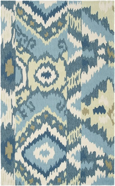 Brentwood Ivory Olive Teal Polyester Area Rug - 60 x 96 BNT7678-58