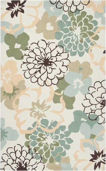 Brentwood Beige Sunflower Slate Polyester Area Rug - 60 x 96 BNT7692-58
