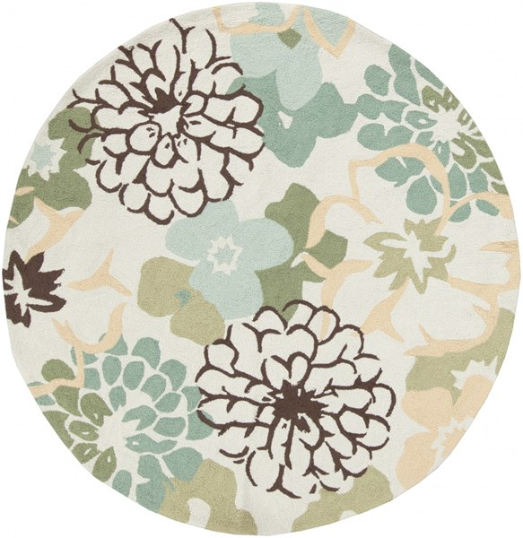 Brentwood Beige Sunflower Slate Polyester Round Area Rug - 72 x 72 BNT7692-6RD