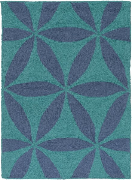 Brentwood Teal Slate Polyester Area Rug - 24 x 33 BNT7695-229