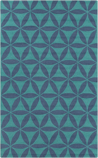 Brentwood Teal Slate Polyester Area Rug - 60 x 96 BNT7695-58