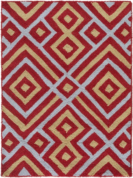 Brentwood Contemporary Burgundy Gray Gold Polyester Area Rugs 1202-VAR1