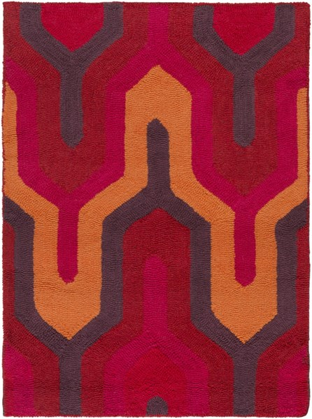 Brentwood Orange Pink Cherry Polyester Area Rug - 24 x 33 1203-VAR1