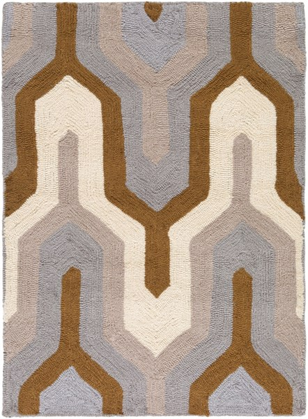 Brentwood Gray Mocha Beige Polyester Area Rug - 24 x 33 BNT7702-229