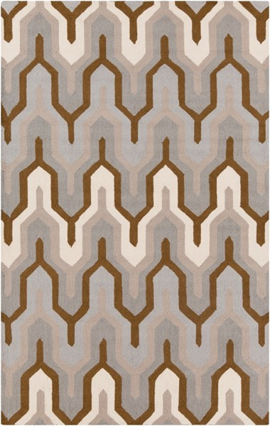 Brentwood Gray Mocha Beige Polyester Area Rug - 60 x 96 BNT7702-58